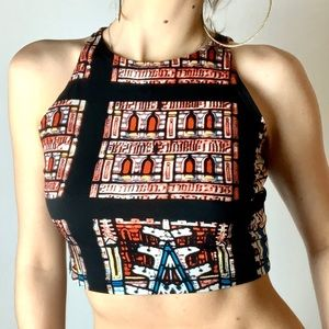 Cathedral stained art tank top